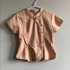 Chinese-Inspired T-shirt Blouse